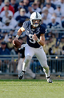 STATE COLLEGE, PA - SEPTEMBER 09:  Penn State QB Trace McSorley (9) scrambles out of the pocket. The Penn State Nittany Lions defeated the Pittsburgh Panthers 33-14 in the Keystone Classic September 9, 2017 at Beaver Stadium in State College, PA. (Photo by Randy Litzinger/Icon Sportswire)
