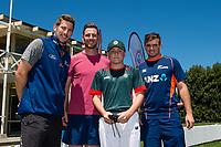 Raroa MVP with Black Caps Matt Henry, George Worker and Tom Latham  at the Bert Sutcliffe Oval, Lincoln University, Christchurch, New Zealand. Wednesday 22 November 2017. Photo: John Davidson/www.bwmedia.co.nz