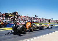 May 7, 2017; Commerce, GA, USA; NHRA top fuel driver Tony Schumacher during the Southern Nationals at Atlanta Dragway. Mandatory Credit: Mark J. Rebilas-USA TODAY Sports
