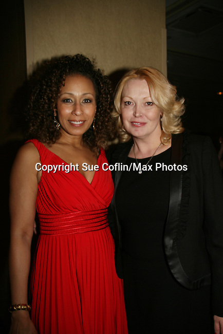 Tamara Tunie - ATWT & Cathy Moriarty both on Law & Order SVU is presented the Linda Dano Heart Award by Linda Dano at the HeartShare 2010 Spring Gala and Auction on March 25, 2010 at the New York Marriott Marquis, New York City, New York. (Photo by Sue Coflin/Max Photos)