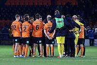 Barnet huddle after Barnet vs Maidstone United , Vanarama National League Football at the Hive Stadium on 3rd November 2018