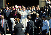 September , 1984 File Photo - Pope John-Paul II   during his 12 days tour of Canada.