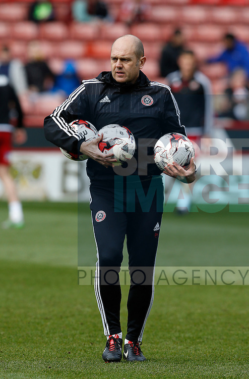 Assistant coach dean Wilkins during the Sky Bet League One match at The Bramall Lane Stadium.  Photo credit should read: Simon Bellis/Sportimage