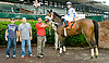Barbara's Beauty winning at Delaware Park racetrack on 6/12/14