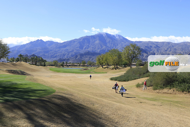 The 9th hole during Saturday's Round 3 of the 2017 CareerBuilder Challenge held at PGA West, La Quinta, Palm Springs, California, USA.<br /> 21st January 2017.<br /> Picture: Eoin Clarke | Golffile<br /> <br /> <br /> All photos usage must carry mandatory copyright credit (&copy; Golffile | Eoin Clarke)