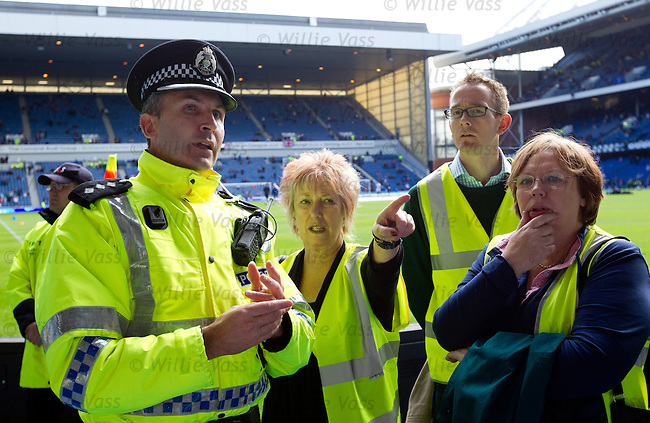 Christine Grahame MSP and the Holyrood justice committee briefed before the old firm match