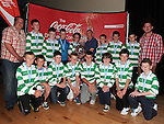 Termonfeckin Celtic under 14 D.S.C.L. League Winners with Hugh Meagher from Coca Cola. Photo: Colin Bell/pressphotos.ie