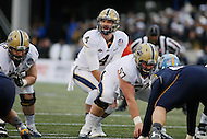 Annapolis, MD - December 28, 2015:     Pittsburgh Panthers quarterback Nathan Peterman (4) calls the play during the Military Bowl game between Pitt vs Navy at Navy-Marine Corps Memorial Stadium in Annapolis, MD. (Photo by Elliott Brown/Media Images International)