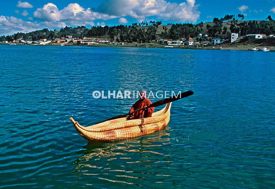 Navegação no Lago Titicaca. Bolivia. 1998. Foto de Juca Martins.