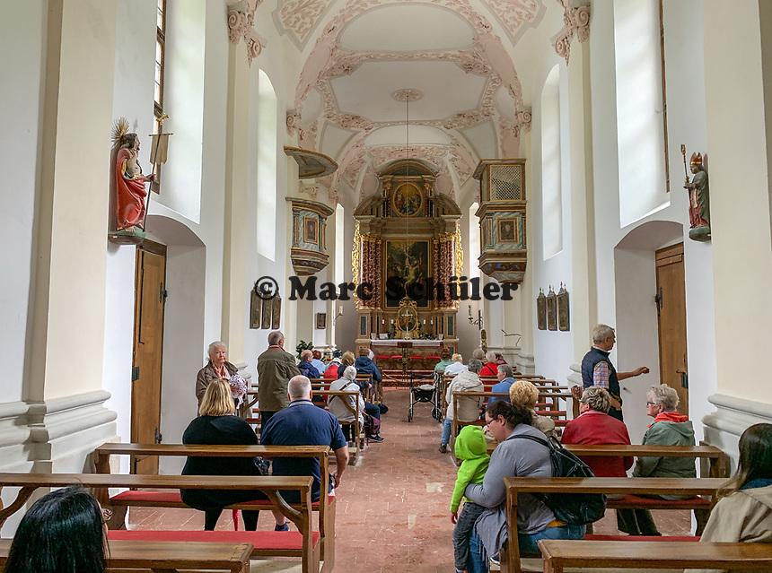 Innenraum der Kirche St. Bartholomä - Berchtesgaden 16.07.2019: Königssee