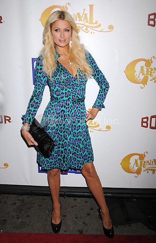 Paris Hilton attends the opening of Carnival at Bowlmor Lanes in New York City. October 8, 2009. Credit: Dennis Van Tine/MediaPunch