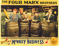 Monkey Business (1931) <br /> Lobby card with Groucho Marx, Chico Marx, Harpo Marx &amp; Zeppo Marx<br /> *Filmstill - Editorial Use Only*<br /> CAP/KFS<br /> Image supplied by Capital Pictures