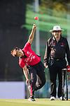 Kary Chan of Hong Kong Women's team bowls during Day 2 of Hong Kong Cricket World Sixes 2017 match between Hong Kong Women's Team vs The Dragons Team at Kowloon Cricket Club on 29 October 2017, in Hong Kong, China. Photo by Yu Chun Christopher Wong / Power Sport Images