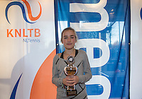 Hilversum, Netherlands, December 4, 2016, Winter Youth Circuit Masters, 3 th place girls 12 years Annelin Bakker <br /> Photo: Tennisimages/Henk Koster