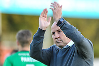 John Coleman manager of Accrington Stanley at the end of the game  during the Sky Bet League 2 match between Crawley Town and Accrington Stanley at Broadfield Stadium, Crawley, England on 22 October 2016. Photo by Edward Thomas / PRiME Media Images.