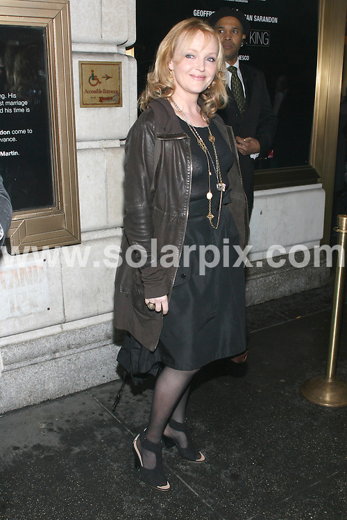 """**ALL ROUND PICTURES FROM SOLARPIX.COM**.**SYNDICATION RIGHTS FOR UK, AUSTRALIA, DENMARK, PORTUGAL, S. AFRICA, SPAIN & DUBAI (U.A.E) ONLY**.arrivals for """"Exit the King"""" Broadway Opening Night. At the Ethel Barrymore Theatre, 243 West 47th Street, New York City, USA. 26 March 2009..This pic: Miranda Richardson..JOB REF: 8732 PHZ (Gaboury)  DATE: 26_03_2009.**MUST CREDIT SOLARPIX.COM OR DOUBLE FEE WILL BE CHARGED**.**ONLINE USAGE FEE GBP 50.00 PER PICTURE - NOTIFICATION OF USAGE TO PHOTO @ SOLARPIX.COM**.**CALL SOLARPIX : +34 952 811 768 or LOW RATE FROM UK 0844 617 7637**"""