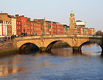 Mellows Bridge crossing River Liffey, city of Dublin, Ireland, Irish Republic built 1760s