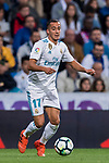 Lucas Vazquez of Real Madrid in action during the La Liga 2017-18 match between Real Madrid and SD Eibar at Estadio Santiago Bernabeu on 22 October 2017 in Madrid, Spain. Photo by Diego Gonzalez / Power Sport Images