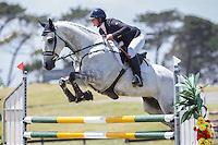 AUS-Simone Kann (LUMINOUS) CCI1* SHOWJUMPING: 2015 NZL-Puhinui International Three Day Event - presented by Honda NZ (Sunday 13 December: CREDIT: Libby Law COPYRIGHT: LIBBY LAW PHOTOGRAPHY
