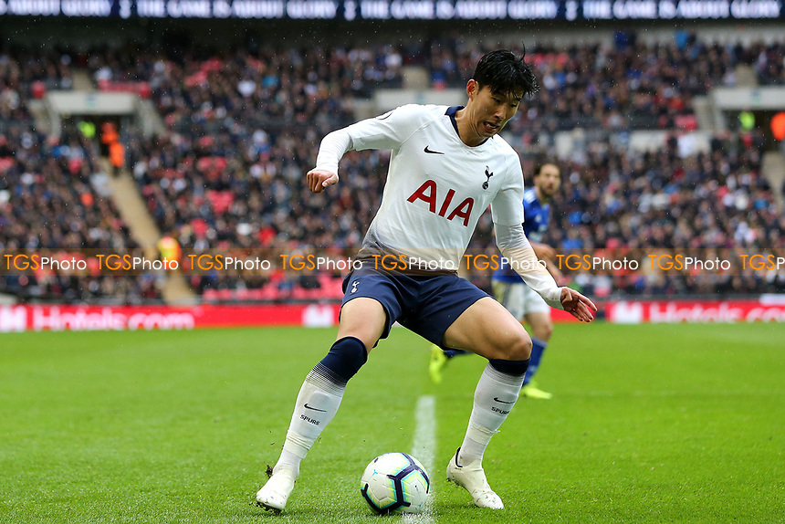 Son Heung-Min of Tottenham Hotspur during Tottenham Hotspur vs Cardiff City, Premier League Football at Wembley Stadium on 6th October 2018