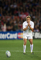Rugby World Cup Auckland  England v France  Quarter Final 2 - 08/10/2011.JONNY WILKINSON  (England) lining up for conversion of second try!.Photo Frey Fotosports International/AMN Images