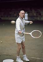 Australian tennis coach Harry Hopman on court at the Hopman Bollettieri Adult Tennis Camp, Amherst Mass, 1972. CREDIT: JOHN G. ZIMMERMAN