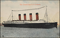 BNPS.co.uk (01202 558833)Pic: Bonhams/BNPS<br /> <br /> The tragic tale of a nine year old girl who was killed when the Lusitania was sunk by the Germans can be told after her mother's handbag emerged for sale 103 years later.<br /> <br /> Winnie Barker accompanied her mother Martha on the passenger liner which was en route from New York to Liverpool when it was torpedoed by a German U-boat on May 7, 1915, off Ireland.<br /> <br /> The pair were finishing lunch when the first torpedo struck and were stood on the deck for the fateful second blow.<br /> <br /> As the ship went down, they held hands and Winnie told her mother 'don't worry mother darling, we shall be saved'.<br /> <br /> Of the 1,962 passengers and crew members on board the Cunard liner, 1,201 were killed, including 159 Americans and three Germans held in the cells.