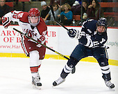 Jimmy Vesey (Harvard - 19), Trent Ruffolo (Yale - 11) - The Yale University Bulldogs defeated the Harvard University Crimson 5-1 on Saturday, November 3, 2012, at Bright Hockey Center in Boston, Massachusetts.