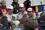 05.10.2019, Hockenheimring, Hockenheim, DTM 2019, Hockenheimring,04.10. - 06.10.2019 , im Bild<br />Sieger Rene Rast (DEU#33), Audi Sport Team Rosberg, 2.Platz für Marco Wittmann (DEU#11), BMW Team RMG, 3.Platz für Mike Rockenfeller (DEU#99), Audi Sport Team Phoenix<br /> <br /> Foto © nordphoto / Bratic