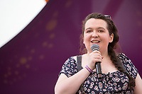 21st July 2019: Comedian Ashley Storrie plays the third day of the 2019 Latitude Festival 2019 at Henham Park, Suffolk.