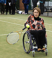 Queens Club, GREAT BRITAIN,   Wheel chair Tennis,  Dame Tanni GREY-THOMPSON, before the  press Conference to announce the joint initiative between British Paralympic Association and Deloitte  of 'www.Parasport.org.uk' online information service, on Thur's.  03.05.2007. London. [Credit: Peter Spurrier/Intersport Images]
