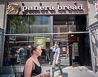 A Panera Bread cafe in New York, on Tuesday, July 28, 2015.  The fast-casual Panera Bread Co. is to report second quarter earnings after the close of the market. Analysts expect the earnings to be above expectations.  (© Richard B. Levine)
