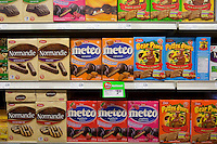 Various Dare cookies are seen in a Metro grocery store in Quebec city March 4, 2009.