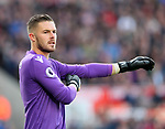 Stoke's Jack Butland in action during the premier league match at the Britannia Stadium, Stoke on Trent. Picture date 9th September 2017. Picture credit should read: David Klein/Sportimage