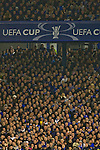 Everton 3 Larissa 1, 25/10/2007. Goodison Park, Europa League Group A. Home fans watching the action as Everton take on AE Larissa at Goodison Park, Liverpool in their UEFA Cup Group A match. Everton beat the Greek team by three goals to one on the opening night of group matches in the UEFA Cup. It was the first meeting between the two clubs. Photo by Colin McPherson.