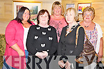 Pictured at the Kerry Cork Cancer Link bus quiz in the Killarney Avenue Hotel on Friday night were Deirdre Fleming, Maureen Steinbeck, Denise Moynihan, Kay O'Sullivan and Mary Counihan.