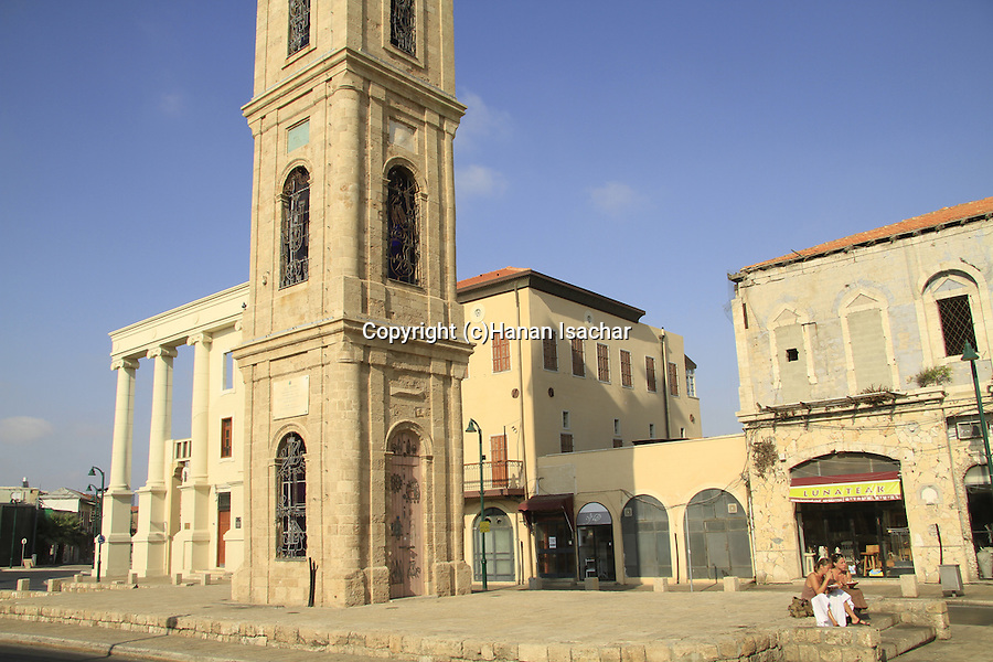 Israel, Tel Aviv-Yafo, the Clock Tower in Jaffa was built in the beginning of the 20th century to celebrate the silver jubilee of the reign of the Ottoman Sultan Abd al-Hamid the II