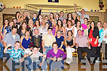 GOING AWAY PARTY: Graham Sheehy, Ballyard and Tara Walsh, Chutehall, Tralee (seated centre) enjoying a great time with a very large group of family and friends before the Jet of to Australia at Stokers Lodge restaurant and bar, Tralee on Saturday.