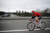 Andr&eacute; Greipel (DEU/Lotto-Soudal) crossing the highway<br /> <br /> 104th Scheldeprijs 2016