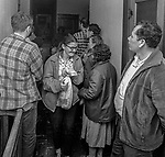 December 24, 1969--Hunger in Stanislaus County-- United States District Judge Robert Peckham unsnarled legal red tape and order the surplus food to be distributed to the hungry poor.  The CAC held an emergency meeting after US Agriculture Department couldn't clear up the red tape to get surplus food to people in need. Then CRLA  petition the federal Court.  In Stanislaus County the problem of winter hunger is a familiar story, when farm work is scarce and food-processing industries using fewer workers   1969 was a particularly bad year.  Unemployment grew from an average 10% to nearly 20%.  Local food banks like the Salvation Army were running out of food.  Photo by Al Golub/Modesto Bee