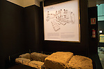 Visigoth funeral display archaeology museum, Jerez de la Frontera, Cadiz Province, Spain