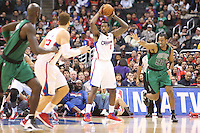 12/27/12 Los Angeles, CA: Los Angeles Clippers center DeAndre Jordan #6 and Boston Celtics center Jason Collins #98 during an NBA game between the Los Angeles Clippers and the Boston Celtics played at Staples Center. The Clippers defeated the Celtics 106-77 for their 15th straight win.