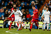 10th January 2018, Santiago Bernabeu, Madrid, Spain; Copa del Rey football, round of 16, 2nd leg, Real Madrid versus Numancia; Francisco Alarcon (Real Madrid) takes a late shot on goal