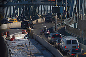 President-elect Trump's motorcade crosses the Robert F. Kennedy Bridge he travels from Trump Tower to Laguardia Airport for a series of visits to Indianapolis and Cincinnati, in New York, NY, USA on December 1, 2016. <br /> Credit: Albin Lohr-Jones / Pool via CNP