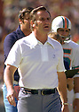 Miami Dolphins head coach Don Shula during a game from his 1973 season with the Miami Dolphins. Don Shula head coached for 33 years with 2 different teams, won 2 Super Bowls with the Miami Dolphins in 1972 and 1973 and was inducted into the Pro Football Hall of Fame in 1997.(SportPics)