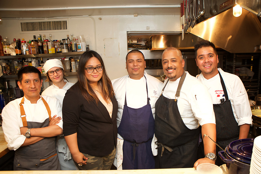 NEW YORK, NY - June 14 2017: Chef Miguel Trinidad of Maharlika and Jeepney presents a Filipino dinner at The James Beard House.<br /> <br /> <br /> Credit: Clay Williams for The James Beard Foundation.<br /> <br /> &copy; Clay Williams / http://claywilliamsphoto.com
