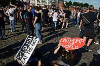 "GERMANY, Hamburg, protest rally ""G-20 WELCOME TO HELL"" against G-20 summit in july 2017 / DEUTSCHLAND, Hamburg, Fischmarkt, Protest Demo gegen G20 Gipfel in Hamburg"