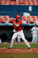 Bradley Braves Andy Shadid (7) bats during a game against the Dartmouth Big Green on March 21, 2019 at Chain of Lakes Stadium in Winter Haven, Florida.  Bradley defeated Dartmouth 6-3.  (Mike Janes/Four Seam Images)