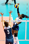 Miryam Fatime Sylla of Italy attacks during the FIVB Volleyball Nations League Hong Kong match between China and Italy on May 31, 2018 in Hong Kong, Hong Kong. Photo by Marcio Rodrigo Machado / Power Sport Images