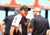 May 21, 2017; Topeka, KS, USA; Bobby Lagana , crew member for NHRA top fuel driver Steve Torrence during the Heartland Nationals at Heartland Park Topeka. Mandatory Credit: Mark J. Rebilas-USA TODAY Sports